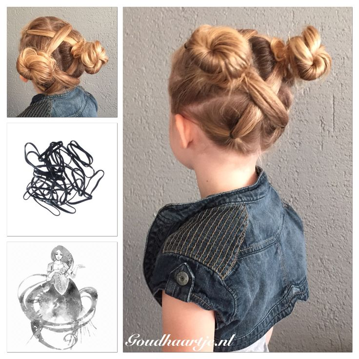 Criss crossed ponytails into messy buns with hair elastics from Goudhaartje.nl    #ponytail #bun #messybun #hair #hairstyle #hairelastic #hairelastics #hairaccessories #knot #knotje #knotjes #haar #haarstijl #haarelastiek #haarelastiekjes #haaraccessoires #goudhaartje
