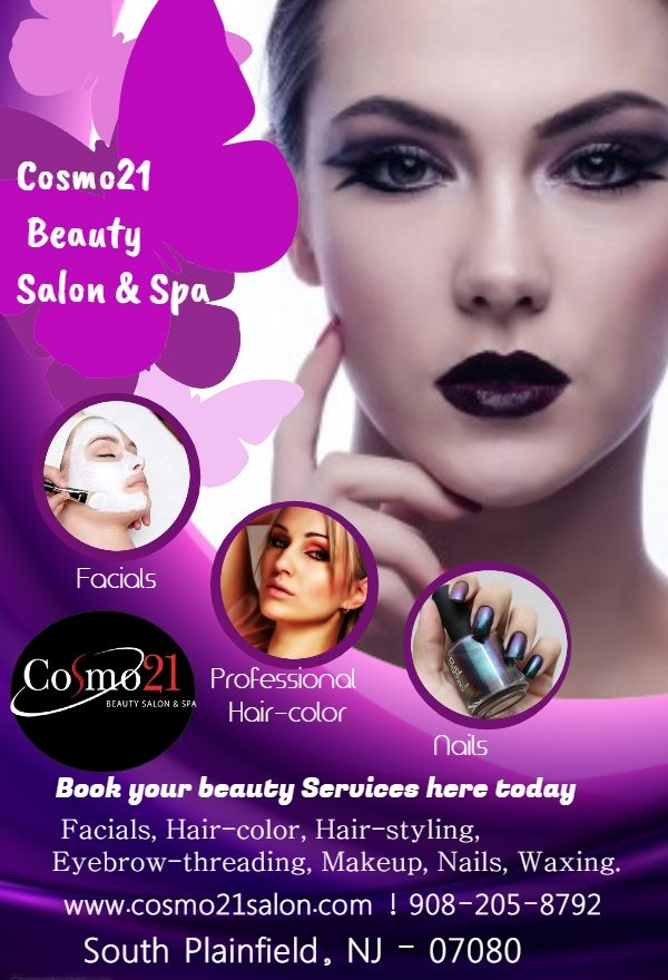 Visit Cosmo21 Beauty Salon Spa And Get Professional Beauty Salon Spa At Affordable In South Plainfiel Beauty Salon Posters Beauty Salon Logo Beauty Posters
