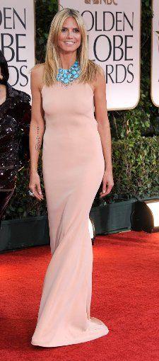 Heidi Klum bei den Golden Globes 2012. Foto: picture alliance / dpa