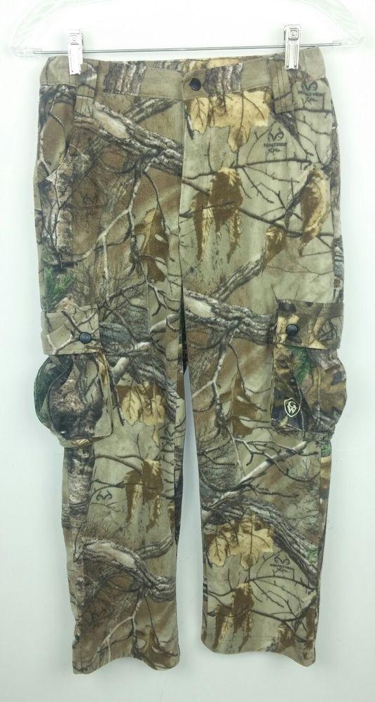 2fbe8c181f4d7 Game Winner Youth Medium Pants Camo Camouflage Cargo Fleece Hunting  Polyester #GameWinner