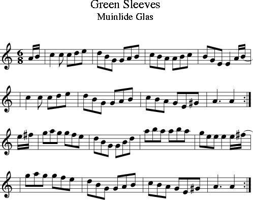 Green Sleeves (Irish Folk Song) (Ireland) sheet music for