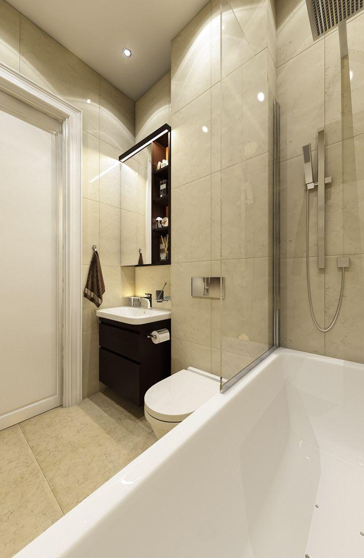 Дизайн апартаментов ЖК Balchug Residence. Спальня для гостей 2. Вид 1 #аркси #arxy #дизайнинтерьера #элитныйинтерьер #дизайнквартиры #ванная