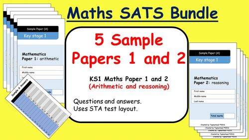 KS1 2016 SATs Maths Sample Papers 1 and 2 (Arithmetic and Reasoning questions and answers)