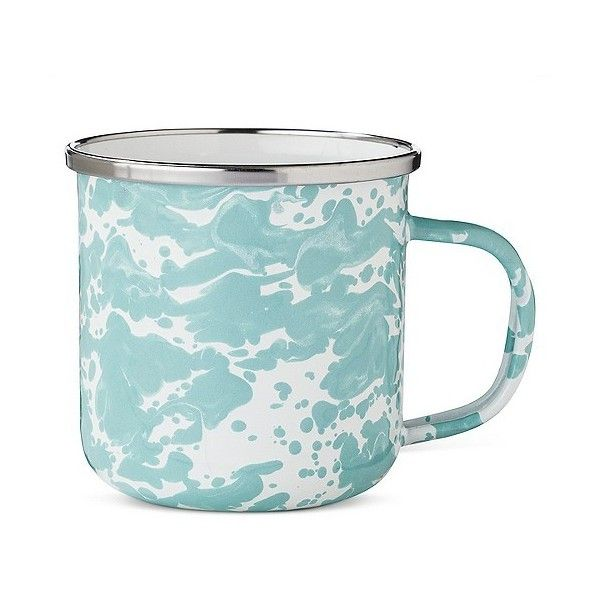Coffee Mug 12oz Stainless Steel Light Blue ($4.99) ❤ liked on Polyvore featuring home, kitchen & dining, drinkware, light blue, stainless steel coffee mug, stainless steel drinkware and stainless coffee mug
