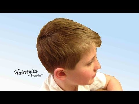 ▶ How to do a Boy's Haircut, Scissor Over Comb, Dry Haircutting - YouTube