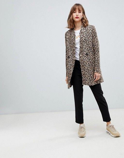 e9d9807d7cba Stradivarius leopard print coat in 2019   Things to Buy   Leopard ...