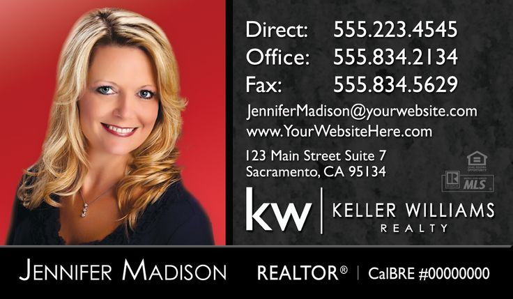 New Keller Williams real estate business card design with