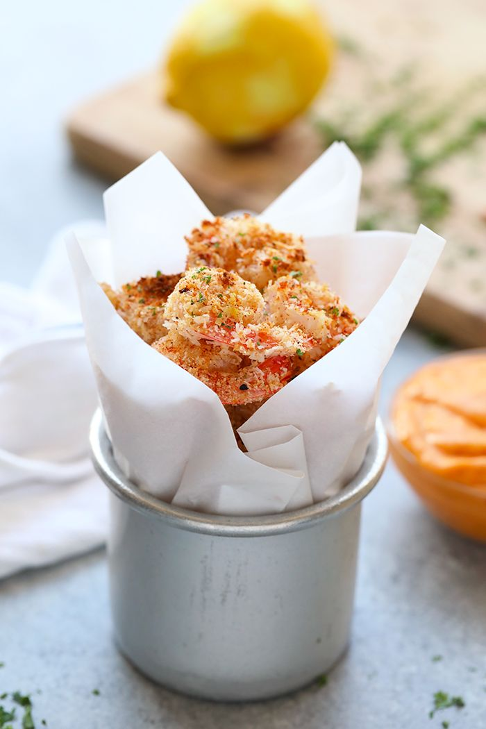 In under 30 minutes, you can have this healthy Baked Coconut Shrimp made with no added sugar, ready to go! Pair it with a delicious and fresh homemade chili mango dipping sauce for the perfect finger food the whole family will devour.