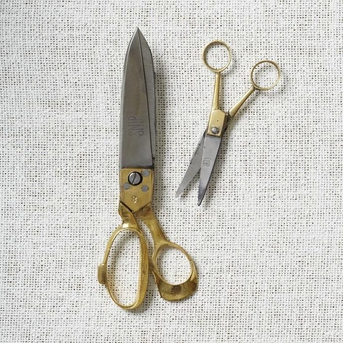 Traditional iron and brass scissors from India