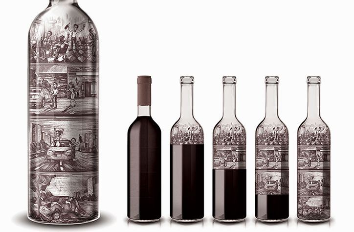 Y&R Russia designs wine bottle displaying the repercussions of irresponsible drinking