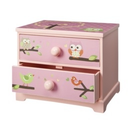 Owl bedroom...I think I could refinish an old nightstand like this! Or have hubby do it!
