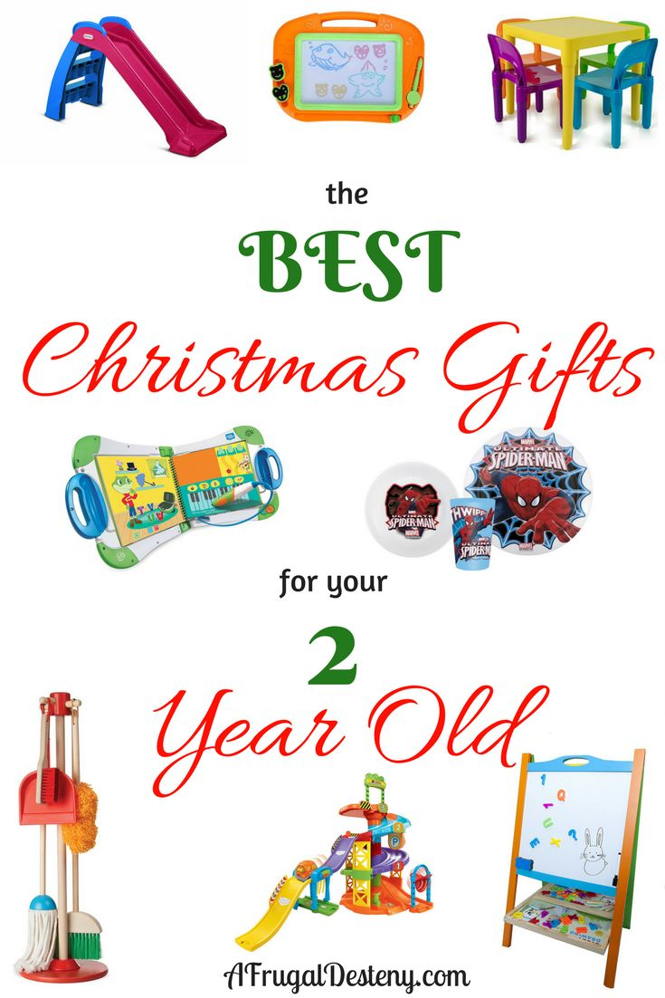 Check out these great Christmas gift ideas for your two year old! I've spend hours building this list. You won't be left disappointed! #christmas #giftguide #toddler #kids #2yearold #momlife #parenting #santa #gifts #noel