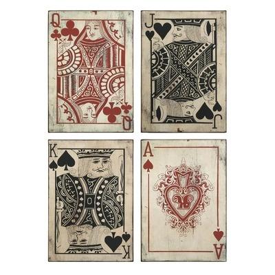 IMAX Leonato Playing Card Wall Decor (Set of 4)