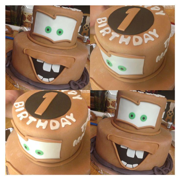 Tow mater Disney Cars cakes cake professional IG: krystiem_