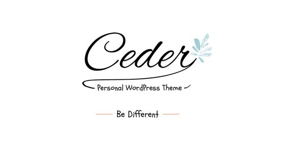 Ceder - Personal WordPress Blog Theme. Full view: https://themeforest.net/item/ceder-personal-wordpress-blog-theme/15934968?ref=thanhdesign