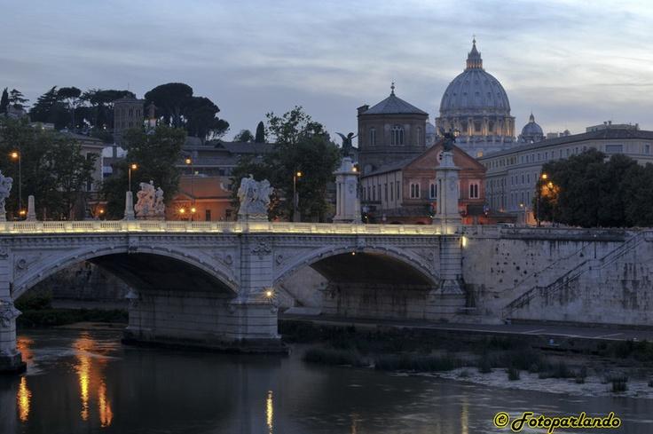 San Pietro, ponte Vittorio Emanuele II - Roma - Cupolone