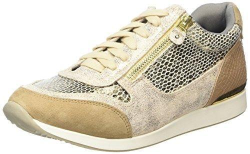 Oferta: 36.85€. Comprar Ofertas de La StradaGold snake leather look sneaker - Zapatillas Mujer , color Dorado, talla 37 barato. ¡Mira las ofertas!