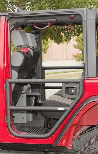 Rugged Ridge Rear Tube Door Set (Rear) in Textured Black for 07-16 Jeep Wrangler Unlimited JK 4 Door