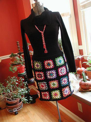 Granny Square Skirt 5