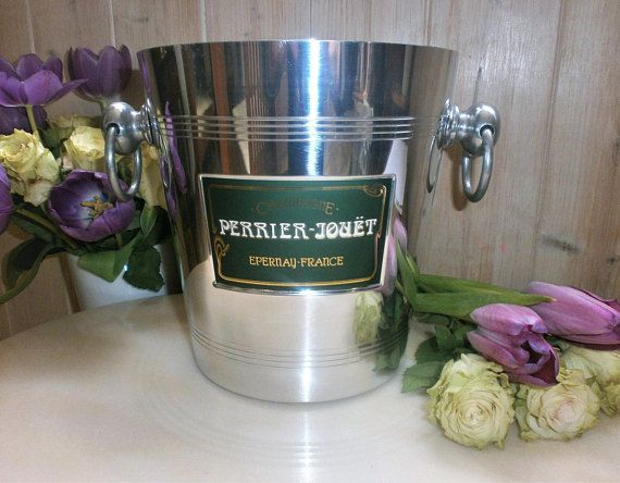 Vintage français Perrier-Jouët seau à Champagne//Made in France//French Ice bucket/Champagne Bucket PERRIER-JOUËT
