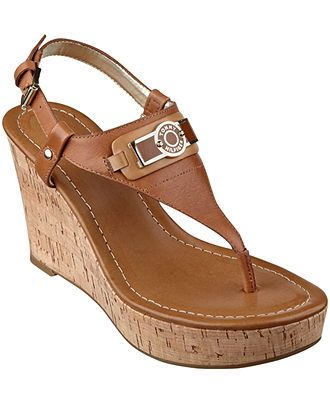 Tommy Hilfiger Women's Monor Platform Wedge Thong Sandals - All Women's Shoes - Shoes - Macy's