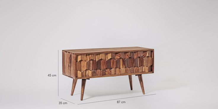 Swoon Editions Media unit, mid-century style in rosewood - £199