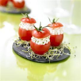 Recette de Tomates cerises farcies au Rondelé ail de Garonne et fines herbes