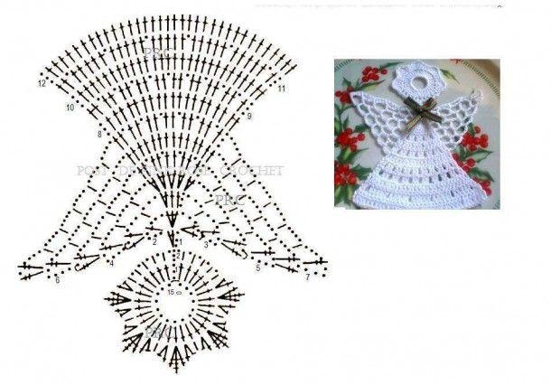 Angeli Schemi Gratis Free Crochet Uncinetto Natale Tutorial Motivi