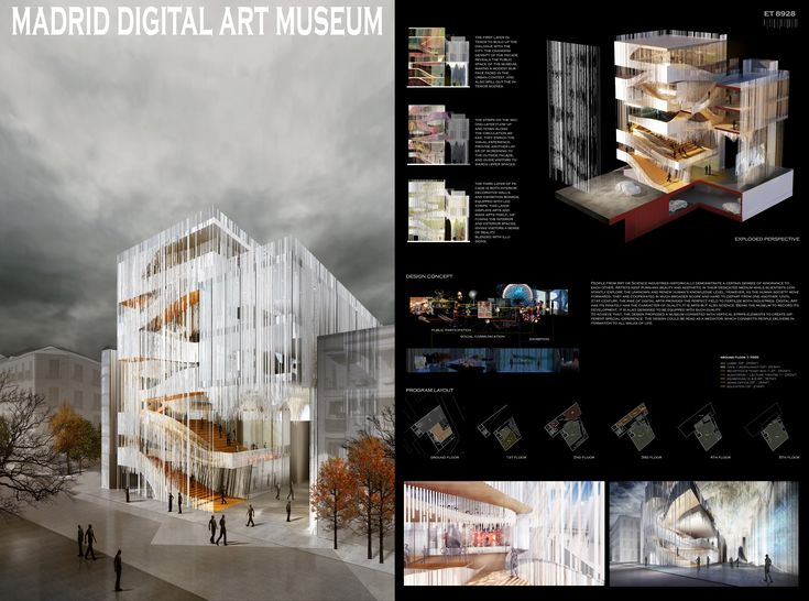 "Project by Arch. Yemin Ma /  Jinjng Yu / Jingtong Tan / Yue Ma, from ETStudio - Hong Kong    From the author: ""Digital Art has innately the character of duality. It is arts but also science. Being the museum to record its development, it is a"