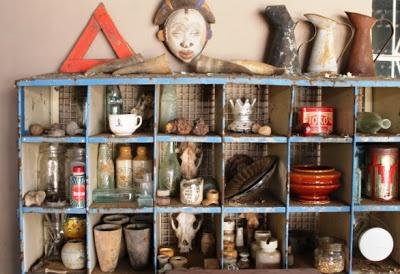 vintage pigeon hole shelf