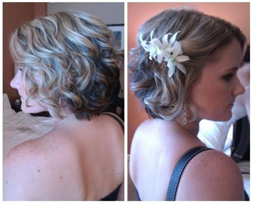 Image result for bridesmaid hairstyle wavy short