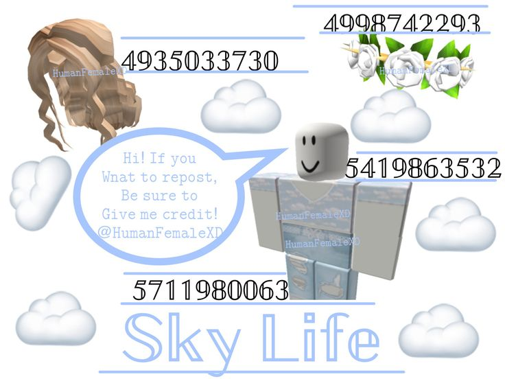 Cloudy Sky Outfit Codes Roblox Codes Coding Roblox Roblox