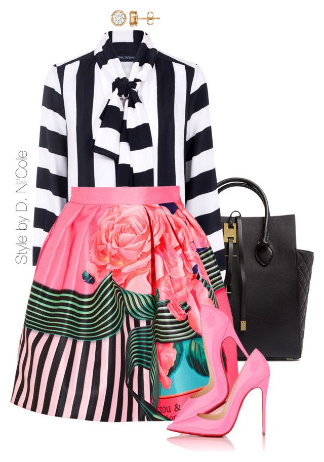 Untitled #3264 by stylebydnicole on Polyvore featuring polyvore, fashion, style, Pink Tartan, Mary Katrantzou, Christian Louboutin, Michael Kors and clothing