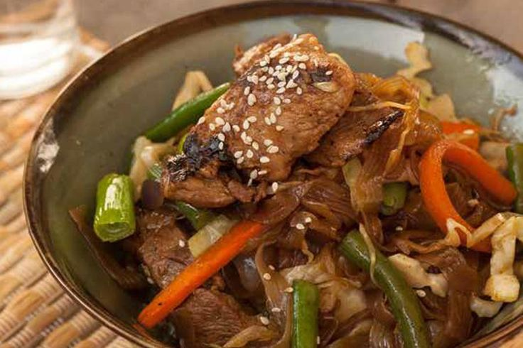 Pork Chow Mein - Learn more in the Slendier Information Centre. Recipes, articles and videos for a healthy lifestyle.