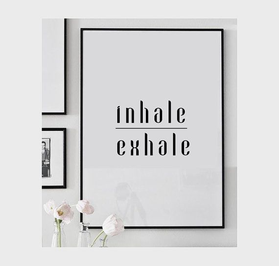 Hey, I found this really awesome Etsy listing at https://www.etsy.com/uk/listing/206116848/breathe-print-yoga-poster-meditation
