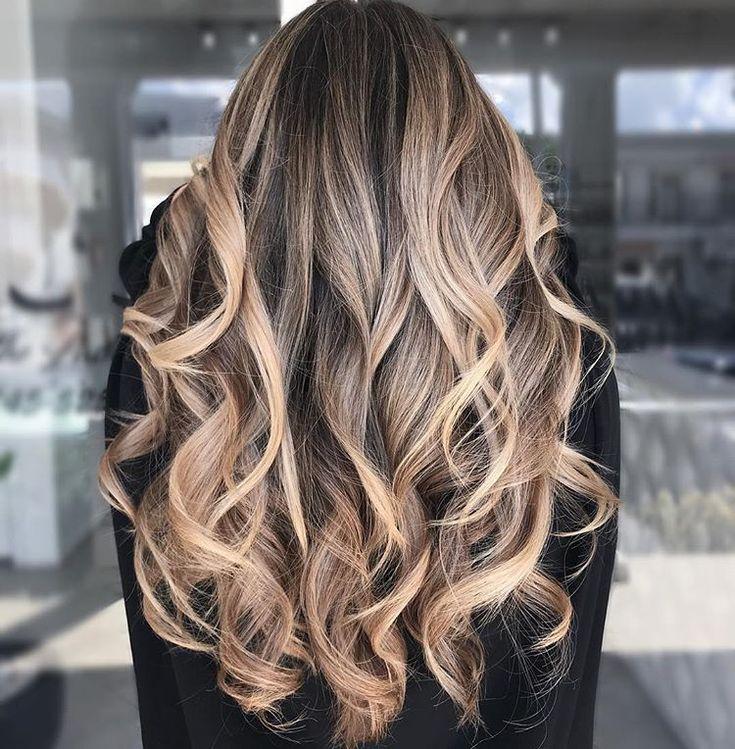 покраска волос растяжка цвета фото