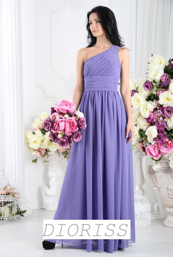 Lilac wedding Dress Chiffon Floor Length Lavender Dress Bridesmaid Party Purple One Shoulder dress Summer Wedding. by Dioriss on Etsy https://www.etsy.com/listing/267093908/lilac-wedding-dress-chiffon-floor-length