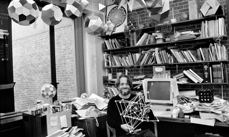 John Conway in his office at Princeton in 1993. Photograph: Dith Pran/The New York Times/Red/Eyevine