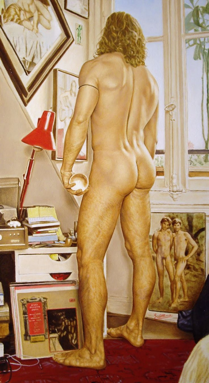 Jacques Sultana - Manu de espaldas en la ventana: Nude Art, Drawn Men, Art Jacques, Paintings Nude, Art Incarnato, Nude But, Sultana Nude, Men Art, Jacques Sultana