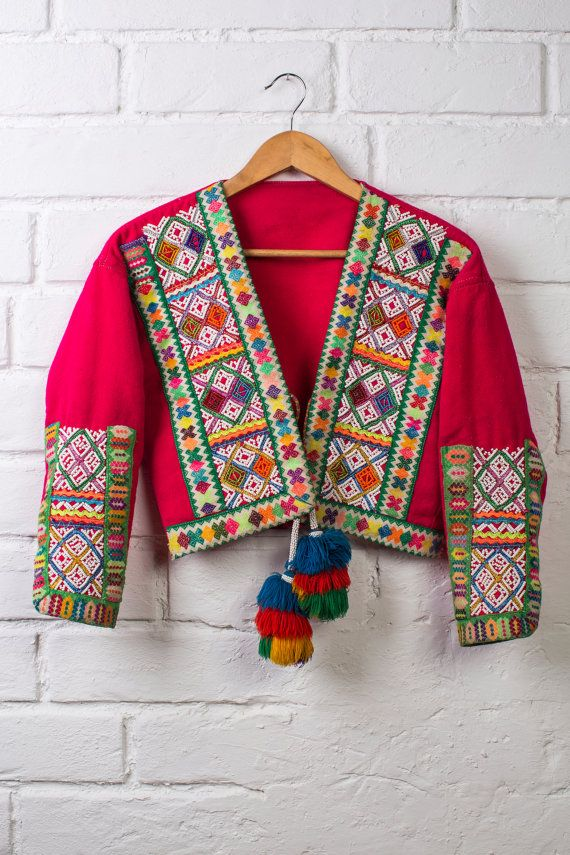 BOHO JACKET Embroidered jacket bohemian clothing by WeKnitColor