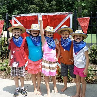 Provide cowboy hats, bandanas and mustaches for your western party guests and then be sure to take pictures!