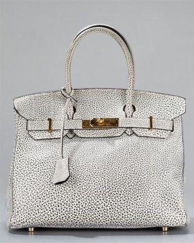 3ff54b0f402b Hermes Dalmatian Buffalo Leather 30cm Rare Collector s Birkin Bag   Hermeshandbags
