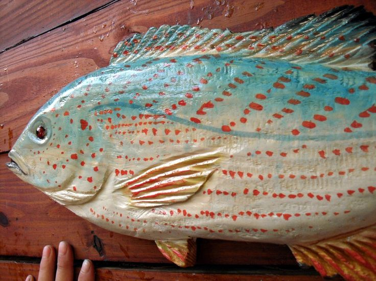 Tropical pigfish quot chainsaw wood carving indoor outdoor