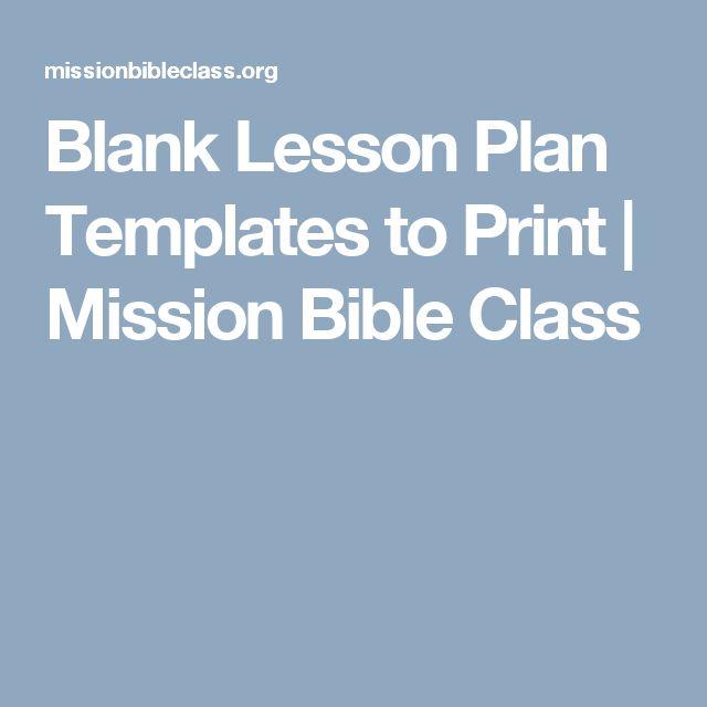 Ponad 25 najlepszych pomysłów na Pintereście na temat Blank lesson - blank lesson plan template