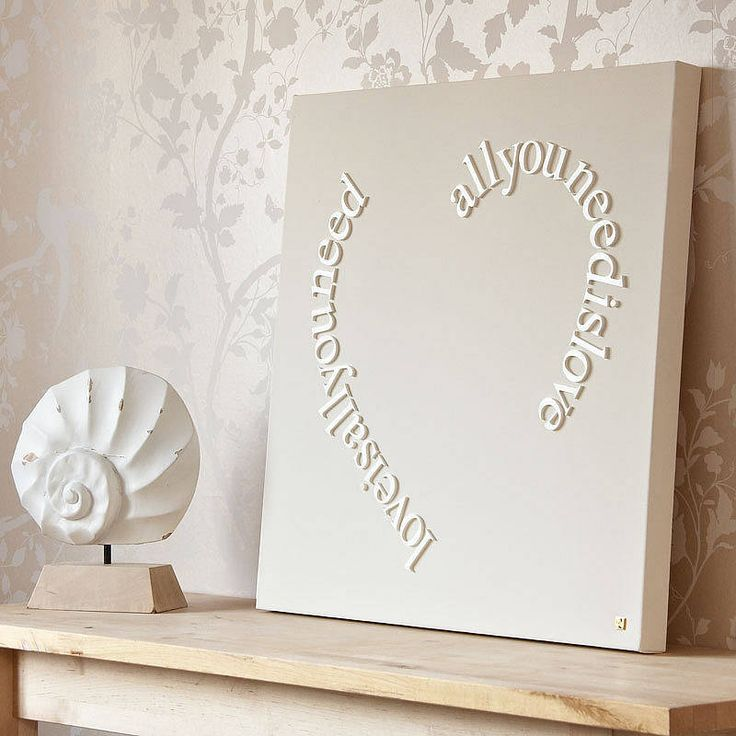 Personalised All You Need Is Love Canvas