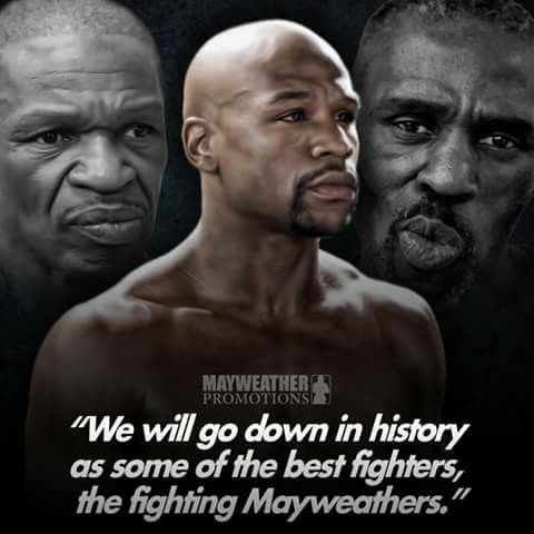 Generations: Floyd Mayweather Jr., Floyd Mayweather Sr., & Roger Mayweather. The Mayweather's The Past, The Present and The future of the sport of #Boxing