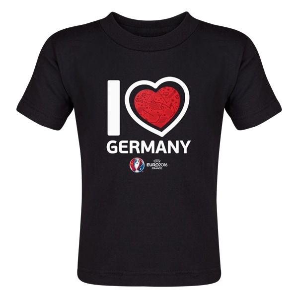 Germany Euro 2016 Heart Toddler T-Shirt