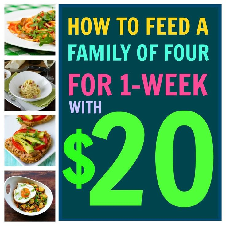 How To Feed Your Family with Just $20 for an Entire Week