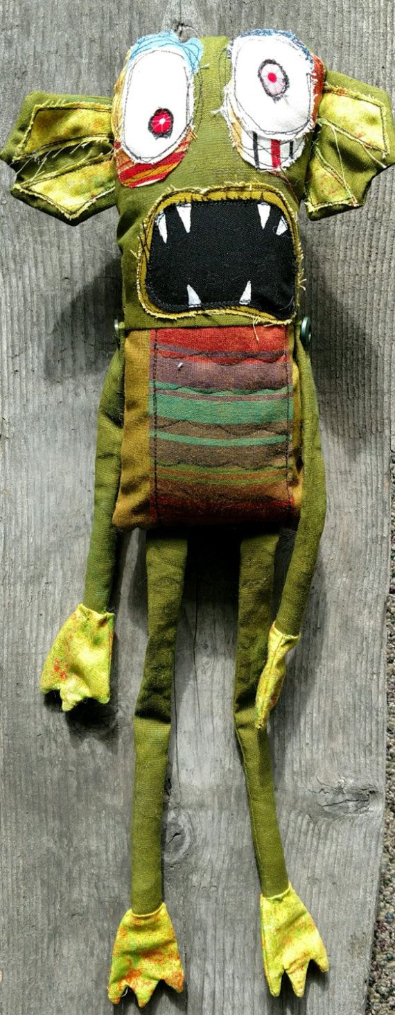 Creature from the local lake handmade OOAK art monster doll