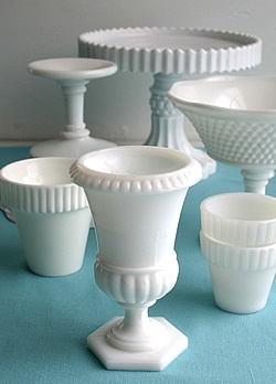 love milk glass.Hobnail, Glasses Dishes, Cake Stands, Vintage Milk, Milkglass, Glasses Obsession, Cake Plates, Antiques, Milk Glasses Collection
